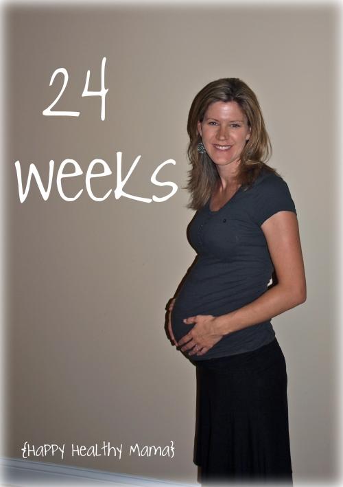 живот на 24 неделе беременности