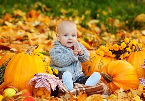 Осенний рацион ребенка из овощей и фруктов